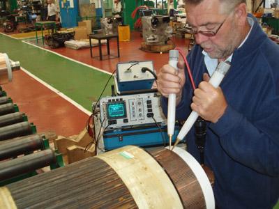 испытание электродвигателей переменного тока