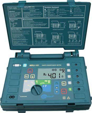 Прибор измерения сопротивления заземляющих устройств и  молниезащиты MRU-101