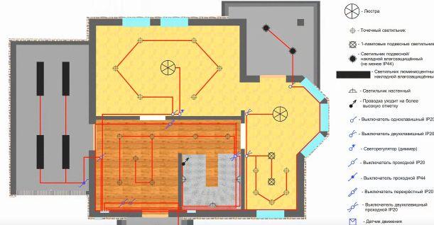 Схему электрики квартир